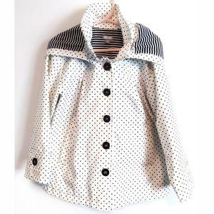 Polka dot hooded  raincoat